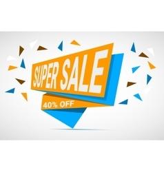 Super Sale paper banner vector image