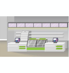Supermarket interior vector