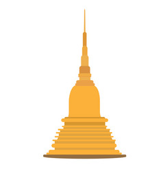 Thai golden pagoda building of buddhism vector