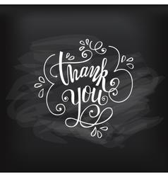 Thank you on chalkboard vector
