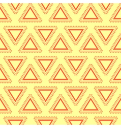 Tribal yellow seamless pattern vector