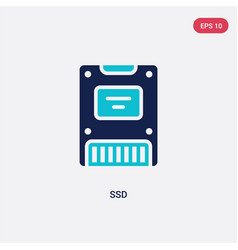 two color ssd icon from electronic devices vector image