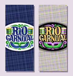 Vertical banners for rio carnival vector