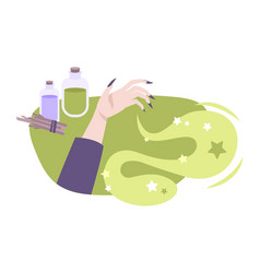 witchcraft flat composition vector image