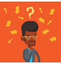 Young businessman thinking vector