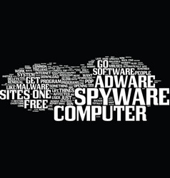 are you one of the affected by spyware or adware vector image vector image