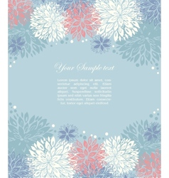 floral background and place for your text vector image