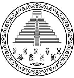 stencil of pyramids and symbols vector image vector image