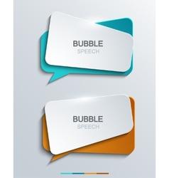 Modern bubble speech icons set vector