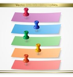 Modern paper sheet sticker infographics elements vector image vector image