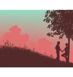 summer meadow vector image
