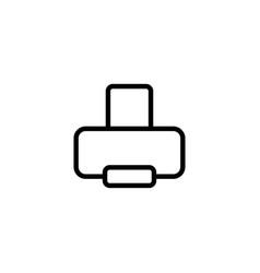 thin line printer icon vector image vector image