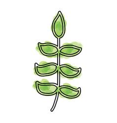 watercolor bush cartoon vector image