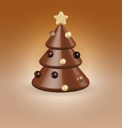 Chocolate tree christmas food concept vector image