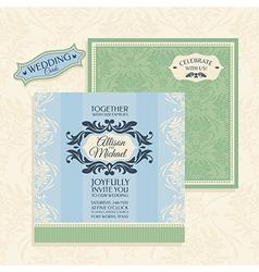 Floral wedding card vector