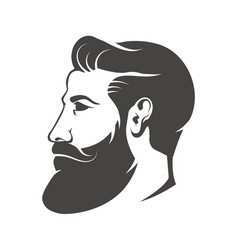 gentleman head with beard and mustache isolated on vector image vector image