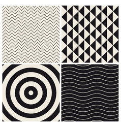 pattern background set retro vector image