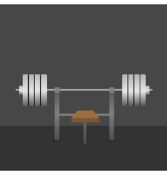 Barbell on bench vector image vector image