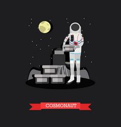 cosmonaut in flat style vector image vector image