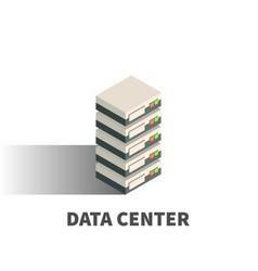 data center icon symbol vector image