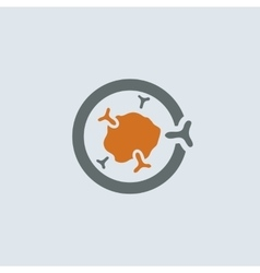 Gray-orange Immunoglobulin Round Icon vector image vector image