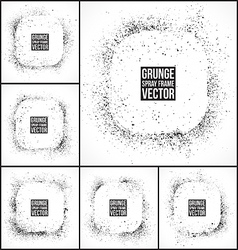 Grunge spray frames vector image vector image