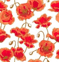 poppy pattern vector image