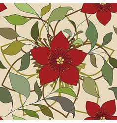 red color flower pattern vector image
