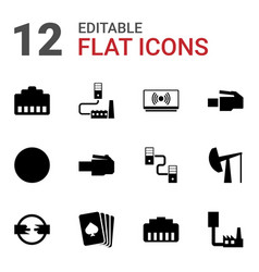 12 jack icons vector