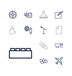 13 concept icons vector