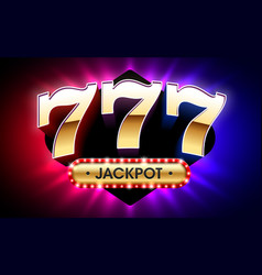 777 lucky sevens jackpot big win jackpot vector