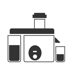 A gray juicer icon vector