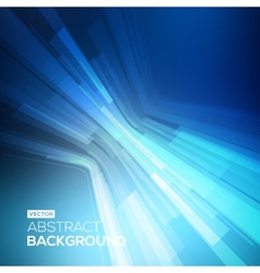 Abstract blue geometric background 3d perspective vector