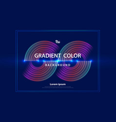 abstract colorful line futuristic design vector image