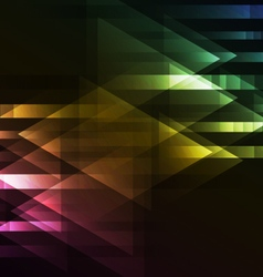 abstract dark multicolor motion arrow overlap vector image