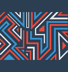 abstract graffiti geometric shapes and lines vector image