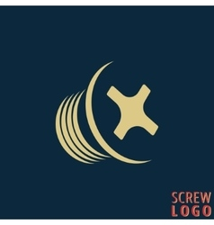 Abstract screw icon vector image