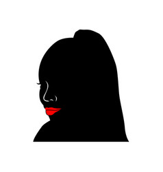 African black woman avatar female head vector