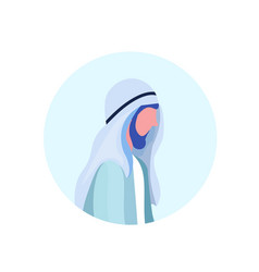 arab man beard profile avatar icon isolated male vector image
