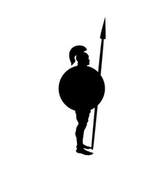 Ares god war silhouette ancient mythology fantasy vector