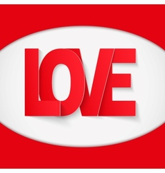 Background Red Letter Love vector