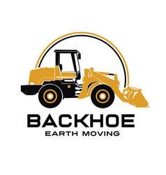 Backhoe logo design vector