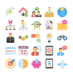 banking and finance colored icons 7 vector image