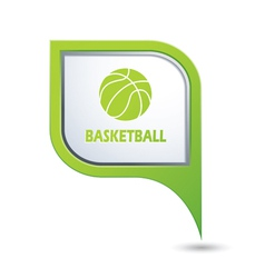 Basketball GREENpointer vector