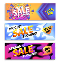 biggest sale is coming - horizontal advertising vector image