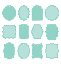 Blank frame and label mega set vintage retro vector