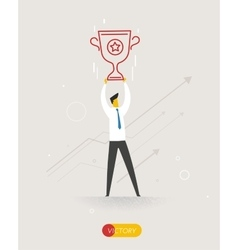 Businessman holding a cup vector image