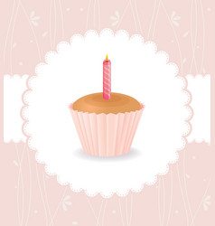 Cake birthday vector