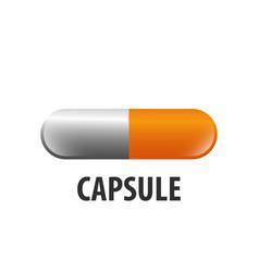 capsule loading logo concept design symbol vector image