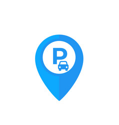 car parking location pin icon vector image